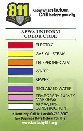 Before You Dig Morehead Utility Plant Board I noticed in the color to chart column pdf there are often colors repeated but with an e before them. before you dig morehead utility plant